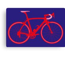 Bike Pop Art (Red & Pink) Canvas Print