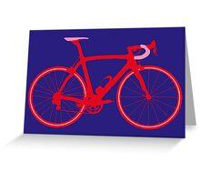 Bike Pop Art (Red & Pink) Greeting Card