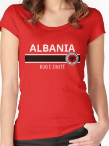 Albanian Football Team Women's Fitted Scoop T-Shirt