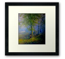 Frodo and The Wood Elves Framed Print