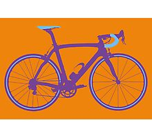 Bike Pop Art (Purple & Blue) Photographic Print
