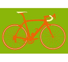 Bike Pop Art (Brown & Yellow) Photographic Print