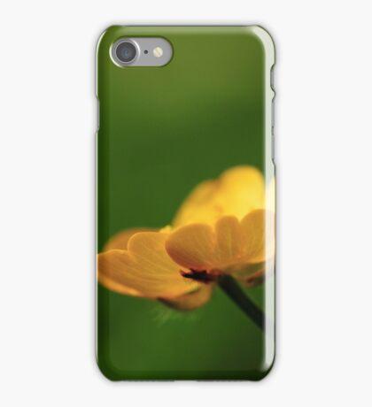 Macro Flower Yellow iPhone Case/Skin