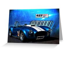 Blue Cobra Greeting Card