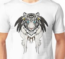 Tribal Tiger - White Unisex T-Shirt