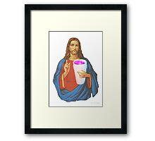 jesus leanin like a THUG Framed Print