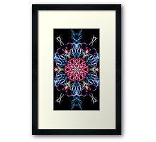 Galactic flame art, mandala, cosmic, space, neon, galaxy, nebula, fractal, artwork Framed Print
