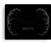 Breathe - Minimal Generative Design Canvas Print