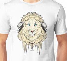 Tribal Lion - White Unisex T-Shirt