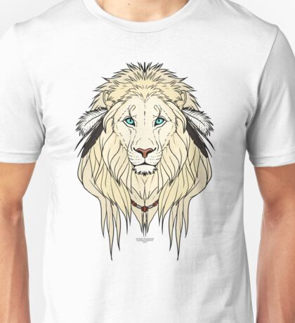 Tribal Lion - White Unisex T-Shirt