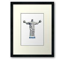 Brazil football  Framed Print