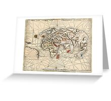 1513 World map by Martin Waldseemüller Greeting Card