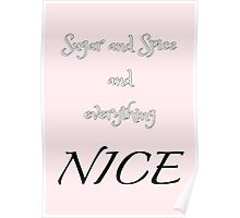 Sugar and Spice - pink Poster