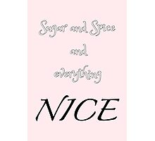 Sugar and Spice - pink Photographic Print
