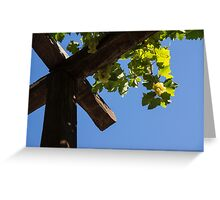 Blue Sky Grape Harvest - Thinking of Fine Wine Greeting Card