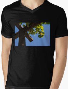 Blue Sky Grape Harvest - Thinking of Fine Wine Mens V-Neck T-Shirt