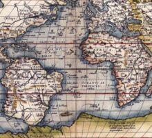 1564 World Map by Ortelius Sticker