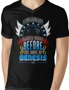LEGENDARY GAMER (SONIC V2) Mens V-Neck T-Shirt