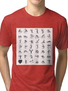 Olympics Icon Pictograms  Tri-blend T-Shirt