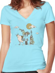 Wandering Troubadours Women's Fitted V-Neck T-Shirt