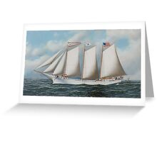 Antonio Jacobsen - Three Masted Schooner 'Andrew C. Pierce' Greeting Card