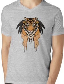 Tribal Tiger Mens V-Neck T-Shirt