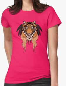 Tribal Tiger Womens Fitted T-Shirt