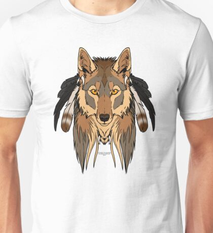 Tribal Coyote Unisex T-Shirt