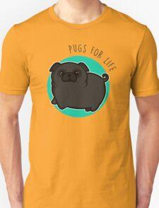 Pugs for life - black Unisex T-Shirt