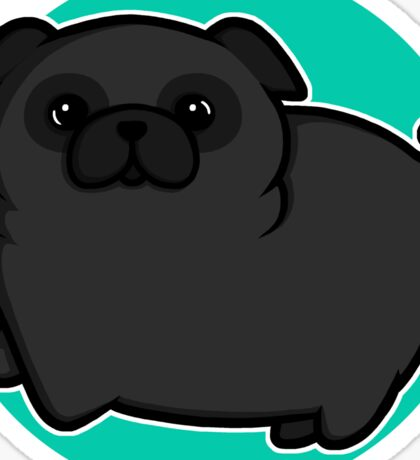 Pugs for life - black Sticker