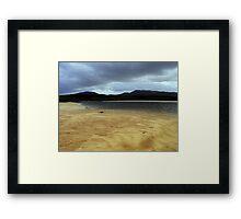 Cape Wrath sand bar Framed Print