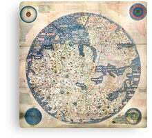 1458 World Map by Fra Mauro Metal Print