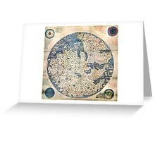 1458 World Map by Fra Mauro Greeting Card
