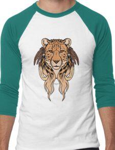 Tribal Cheetah Men's Baseball ¾ T-Shirt