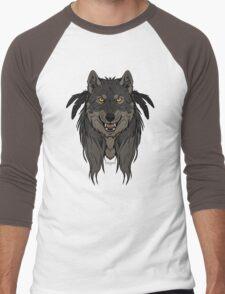 Tribal Werewolf Men's Baseball ¾ T-Shirt