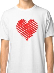 a red heart digital sketch, love is in the air. Classic T-Shirt