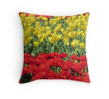 Tulip Time Pillow Throw Pillow