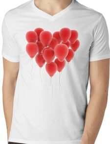 3D group of red balloon formimg a big heart shape T-Shirt