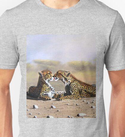 Oil painting of Cheetahs romance  Unisex T-Shirt
