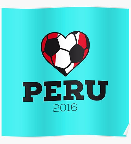 Peru Soccer Shirt 2016 Poster