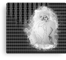 girl & skeleton patterns V Canvas Print