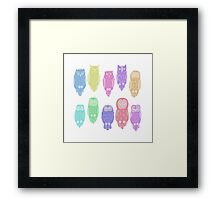 Cute owls Framed Print