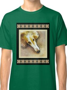 Borzoi in Repose - Black Collection Classic T-Shirt