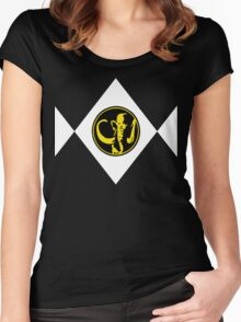 Mighty Morphin Power Rangers Black Ranger 2 Women's Fitted Scoop T-Shirt