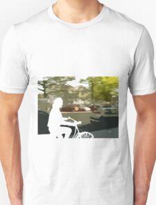 Silhouette cyclist Unisex T-Shirt