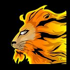 LEO PROUD THROW PILLOW by everdreaded