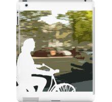 Silhouette cyclist iPad Case/Skin