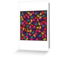 Bananas Coloridas Greeting Card
