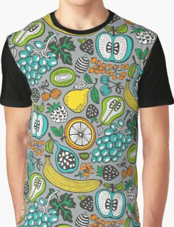 Fruit Cocktail in Gray Graphic T-Shirt