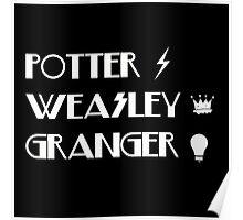 Potter, Weasley, Granger Poster